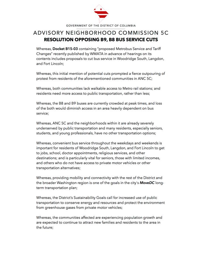Service cut opposition resolution