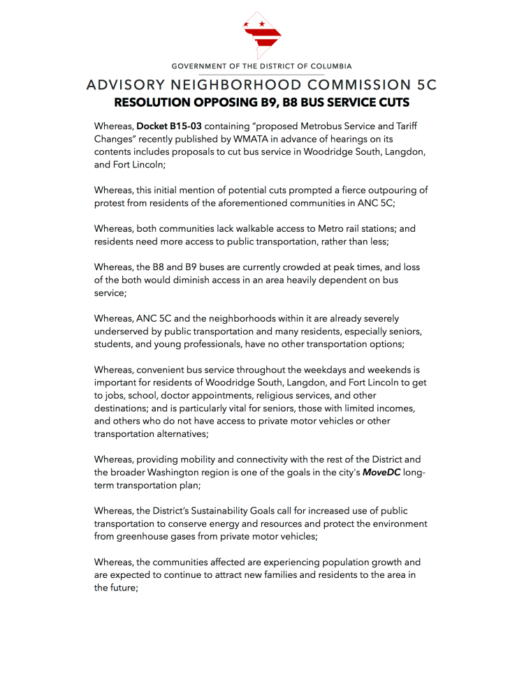 Service cut opposition resolution
